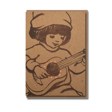 Music Design Retro Greetings Card