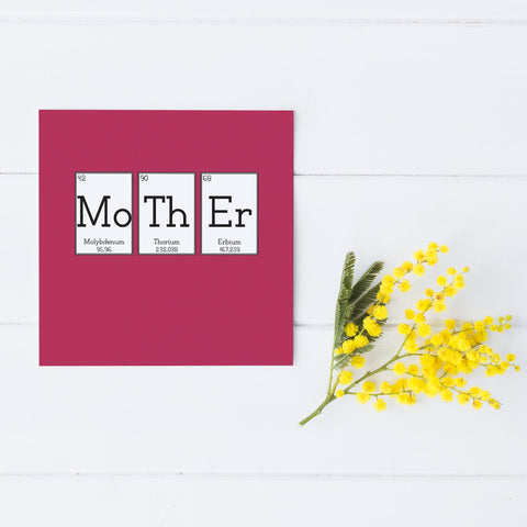 Pink 'Mother' Elemental Greeting Card
