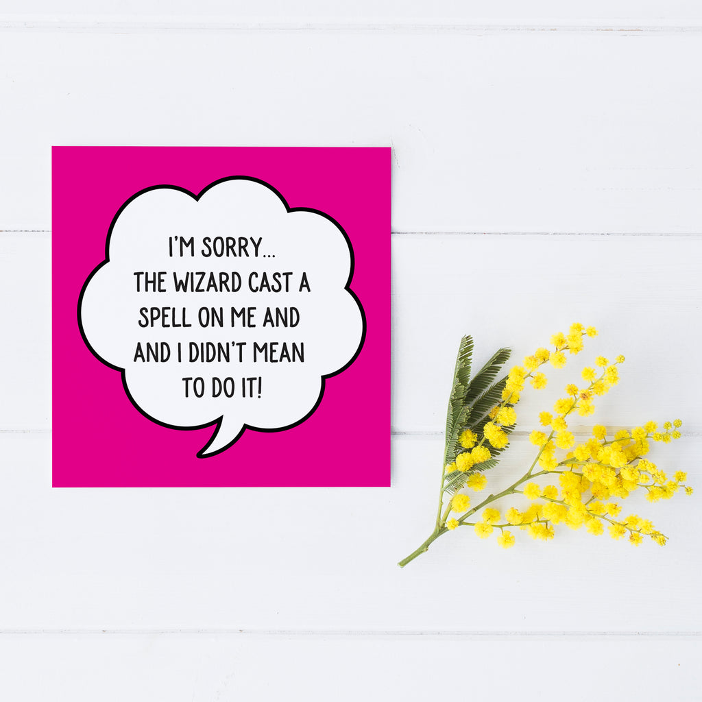 I'm Sorry 'Wizard' Greetings Card - SELLING FAST