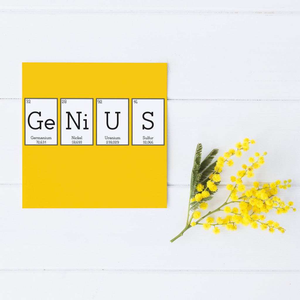 Yellow 'Genius' Elemental Greeting Card
