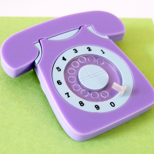 Bluebell Vintage 60s Style Rotary Telephone Brooch *EXCLUSIVE TO DOTTY'S DEN*