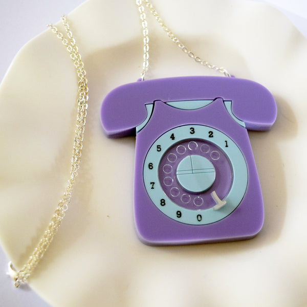 Bluebell Vintage 60s Style Rotary Telephone Pendant *EXCLUSIVE TO DOTTY'S DEN*