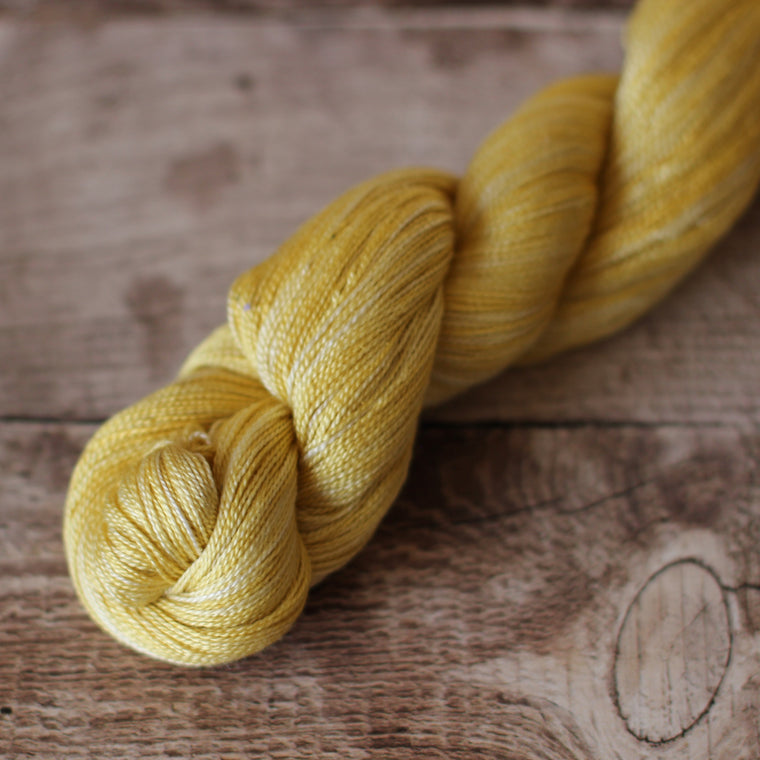 Silk 2ply Yarn - Mustard