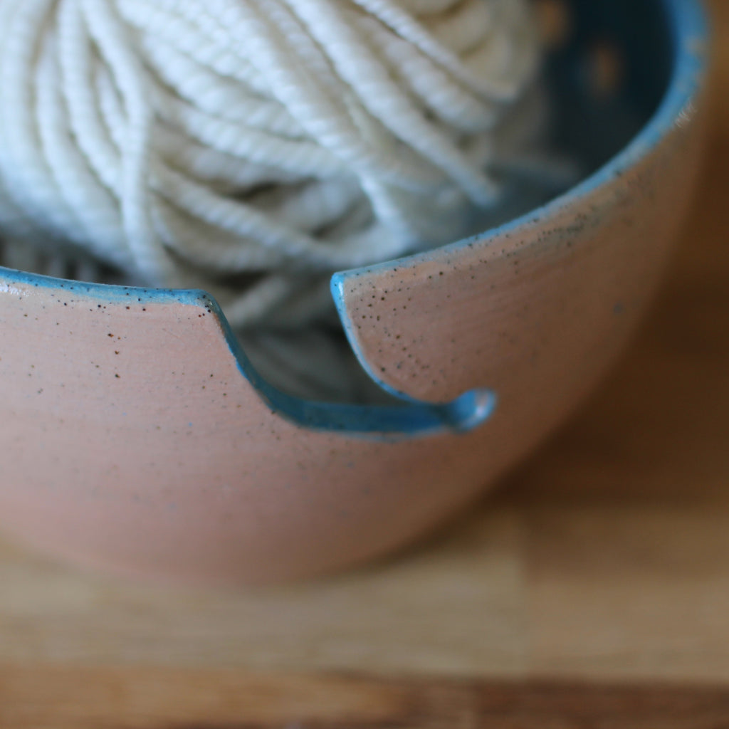 Hand Thrown Yarn Bowl - Redraku Collaboration Bowl No. 1