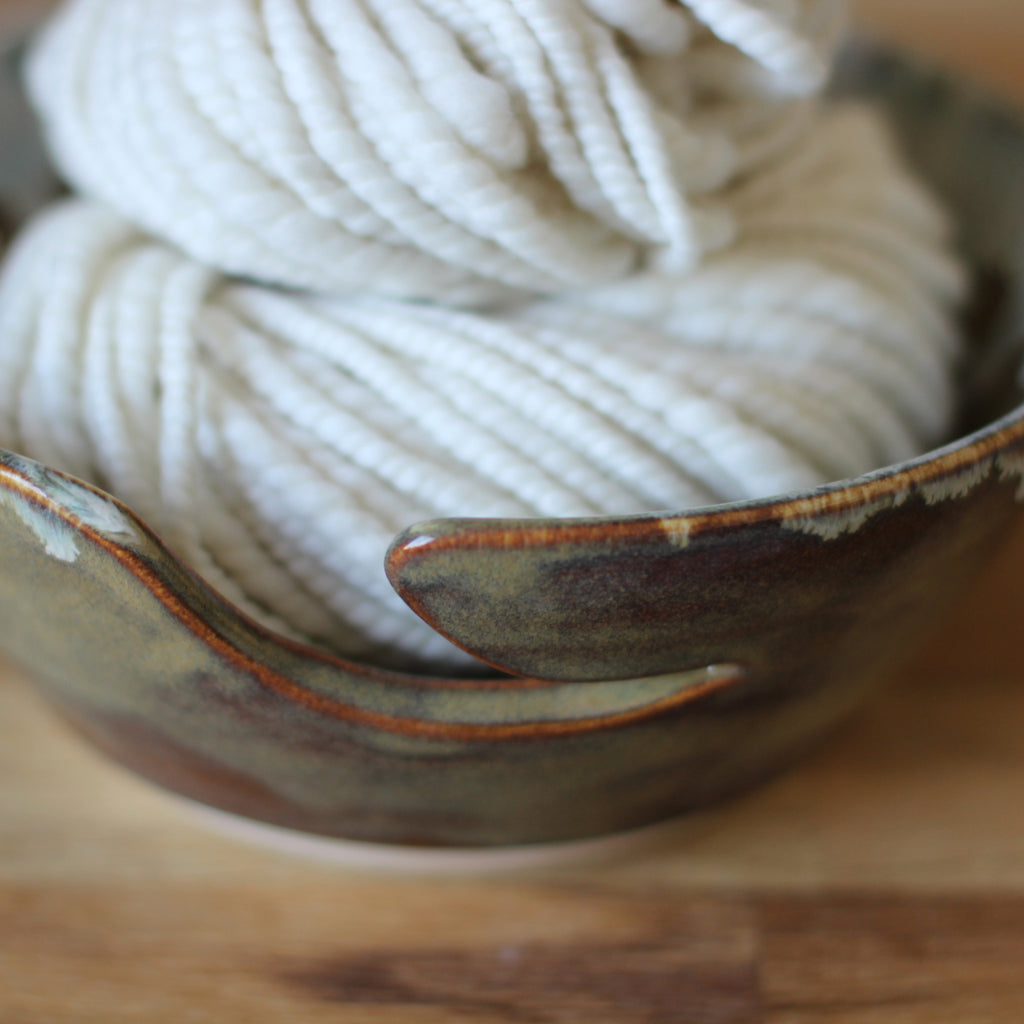 Hand Thrown Yarn Bowl - No. 13