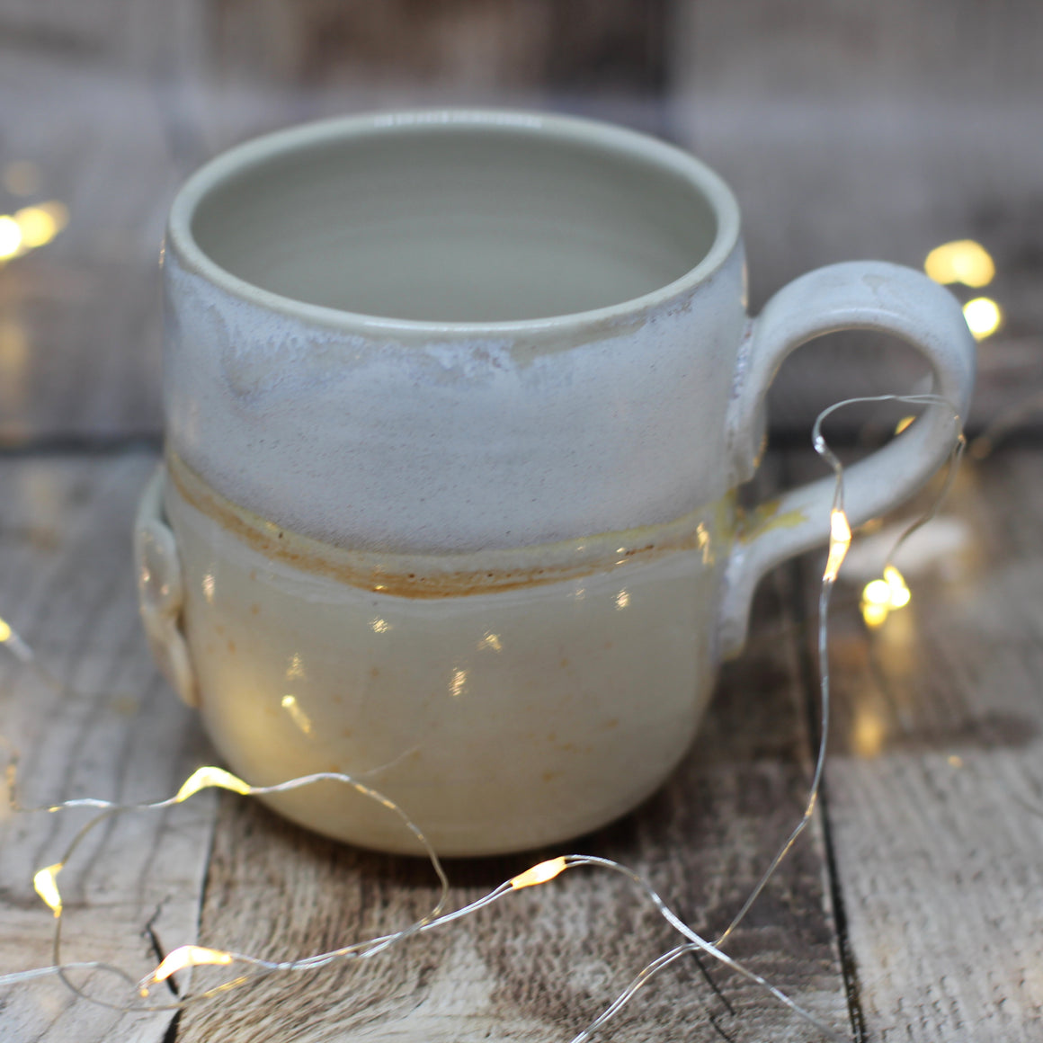 Pickle and Co Fibres Mug - Cream and White