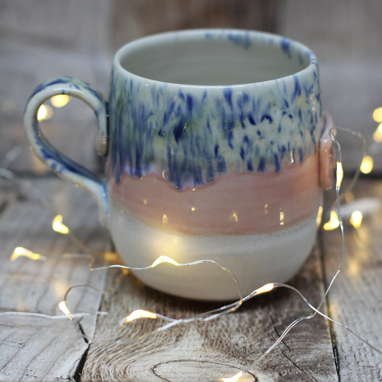 Pickle and Co Fibres Mug - Pink and Speckles