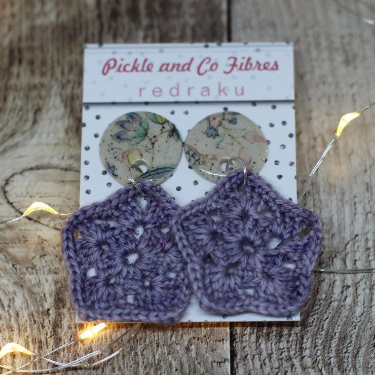 Collaboration Granny Studs - Lilac Dreams