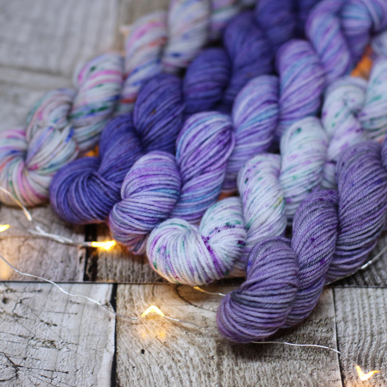 4ply Mini Skein Kit - Purples