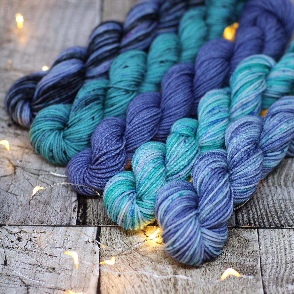 4ply Mini Skein Set - Blues