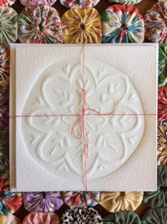 Embossed Greeting Card -  Snowflake milan