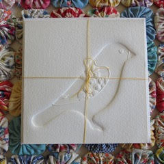 Embossed Greeting Card -  finch
