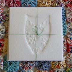 Embossed Greeting Card -  horned owl