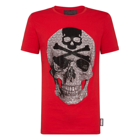 T-shirt Round Neck SS Skull - Red