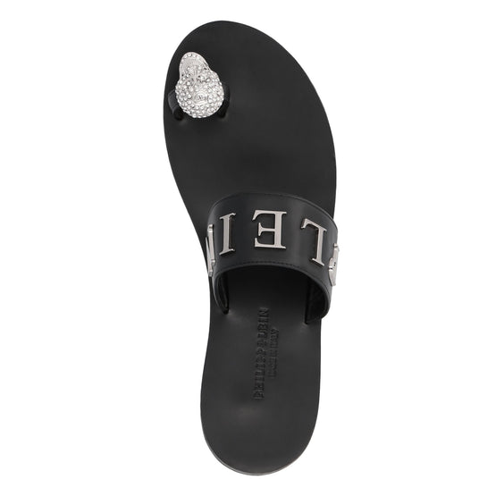 Sandals Flat Statement - Black