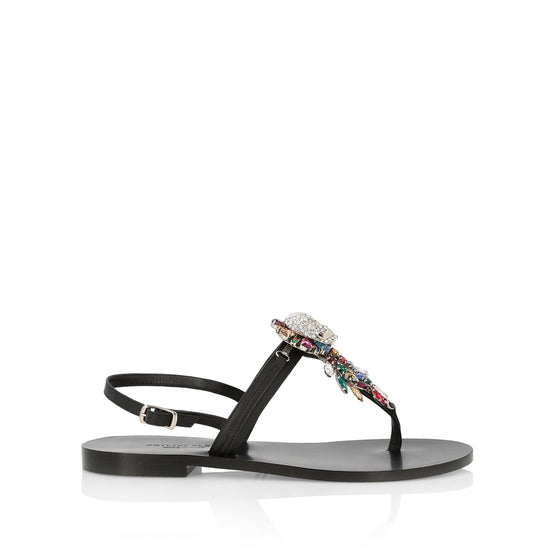 Sandals Flat Skull - Black / Multicolored