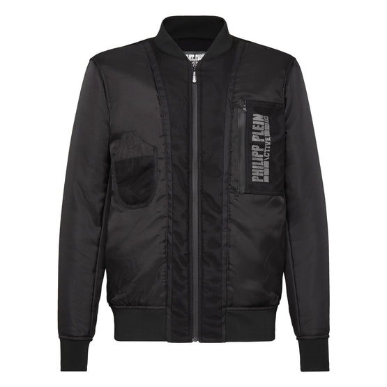 Nylon Jacket Logos - Black
