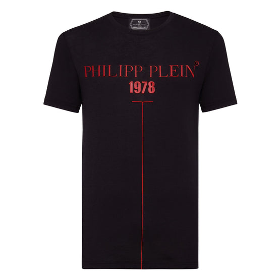 T-shirt Platinum Cut Round Neck PP1978 - Black