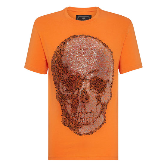 T-shirt Round Neck SS Skull - Orange