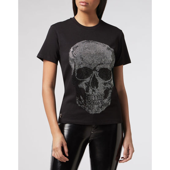 T-shirt Round Neck SS Skull - Black