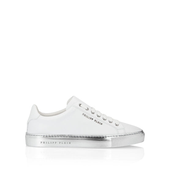 Lo-Top Sneakers Statement - White/Nickel