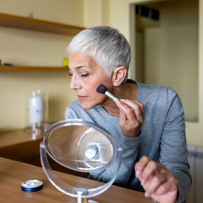 How To Apply Blush Over 50