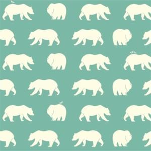 Birch Bear Hike Pool Organic Knit Fabric