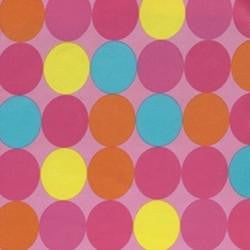 Multi Colored Dots on Polyester Lycra Jersey Knit Fabric