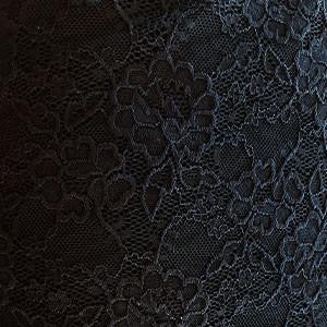 Black Flowers Stretch Lace Knit Fabric