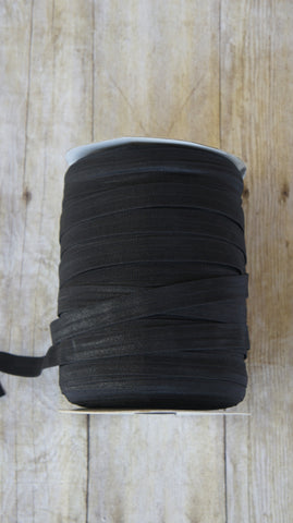 10 Yards Black Fold Over Elastic (FOE) 5/8 Inch