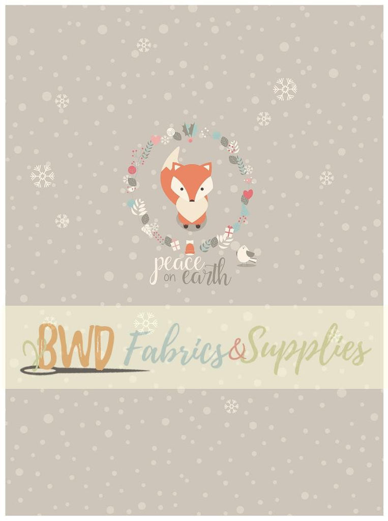 BWD Exclusive - Winter Fox Panels on Cotton Spandex Jersey Knit Fabric