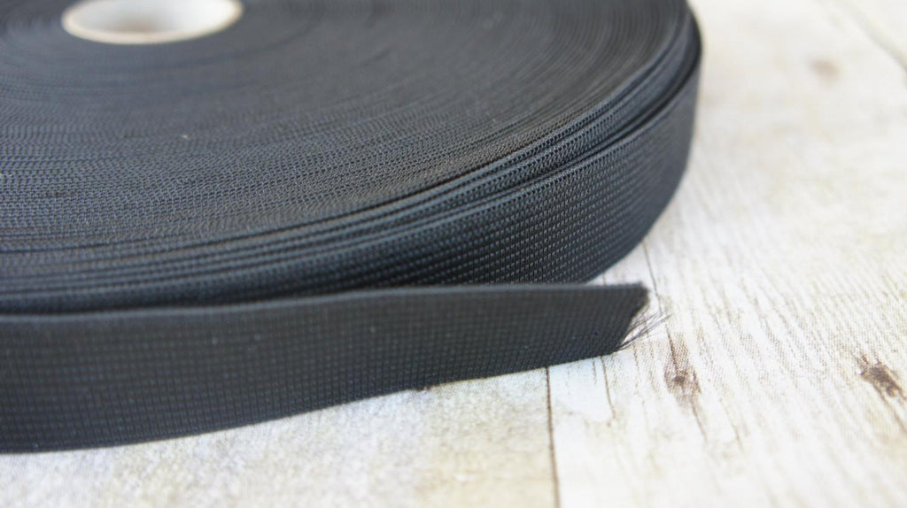 10 Yards Black Knit PJ Elastic 1 Inch