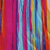 Fuchsia Orange and Blue Ombre Stripe Polyester Lycra Jersey Knit Fabric