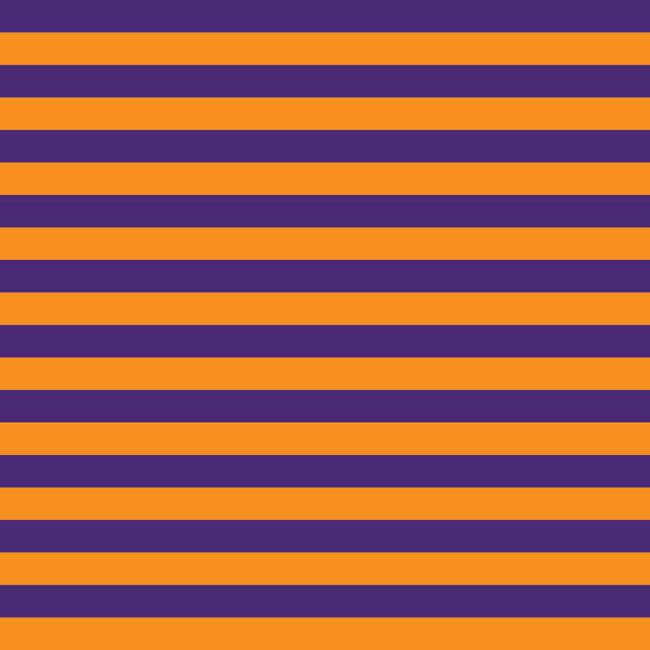Purple and Orange 1/2 Inch Stripes on Cotton Lycra Knit Jersey Fabric