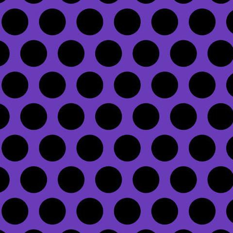 Black Polka Dots on Purple Cotton Lycra Knit Jersey Fabric