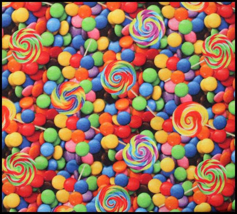 Candy and Lollipops Certified European Organic Cotton Spandex Knit Jersey Fabric
