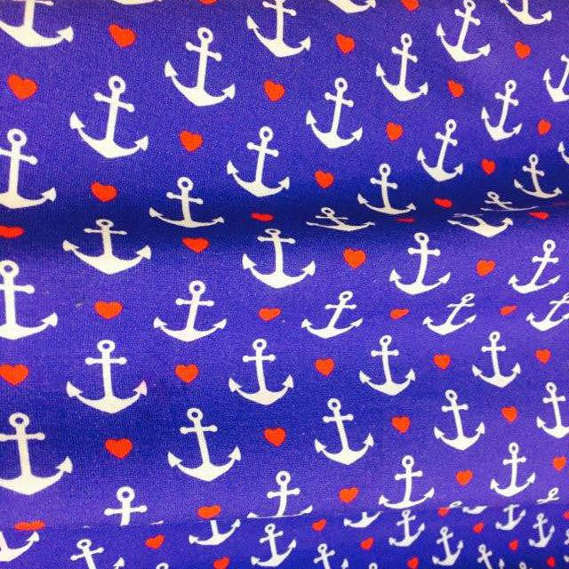 Cruise Anchors European Oeko-tex Certified Cotton Lycra Knit Jersey Fabric