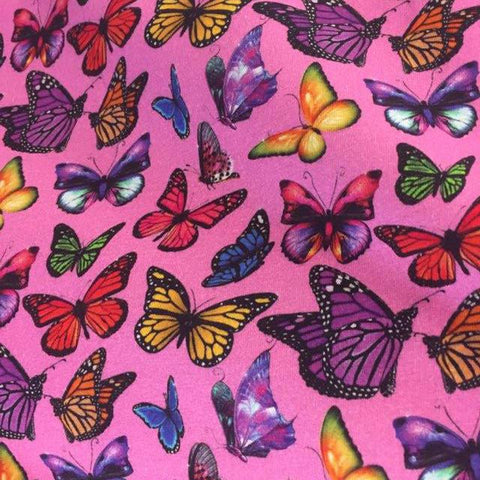 Butterflies European Oeko-tex Certified Cotton Lycra Knit Jersey Fabric