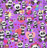Panda Love European Oeko-tex Certified Cotton Lycra Knit Jersey Fabric