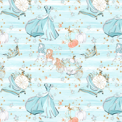Cinderella Inspired European Cotton Lycra Knit Jersey Fabric