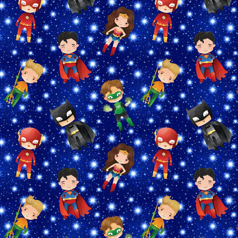 Superheroes European Cotton Lycra Knit Jersey Fabric