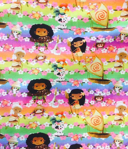 Hawaiian Princess European Cotton Lycra Knit Jersey Fabric