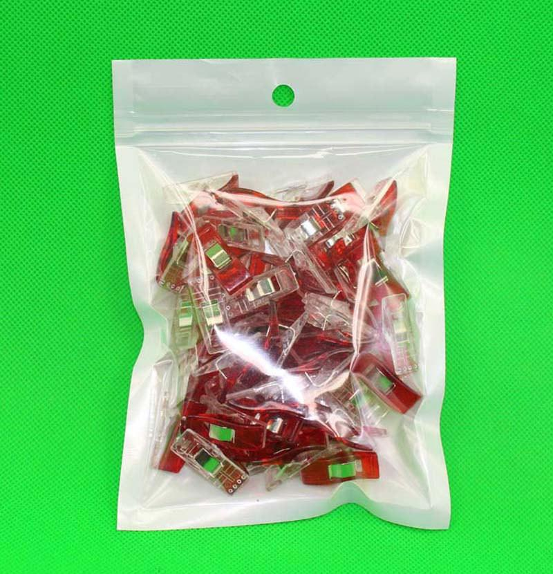 50 Small Red Fabric and Craft Binding Clips