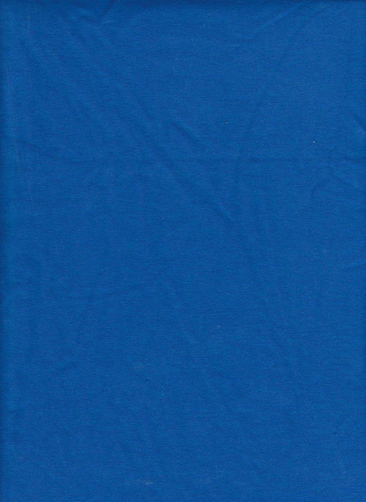 Solid ROYAL BLUE Medium Weight Cotton Lycra Jersey Knit Fabric