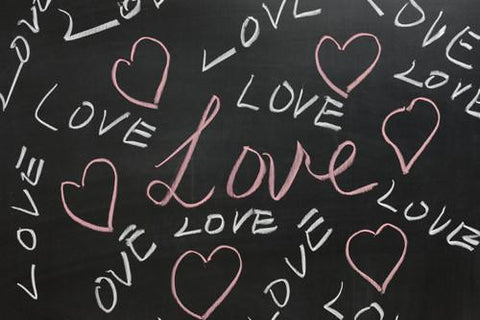 Vinyl Photography Love and Hearts Black Chalkboard Wallpaper Studio Backdrop Background 007