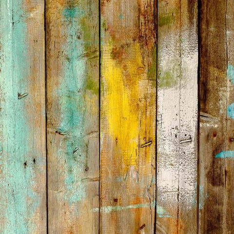 5x7 Vinyl Photography Colorful Painted Wooden Barn Board Wallpaper Backdrop Background 001