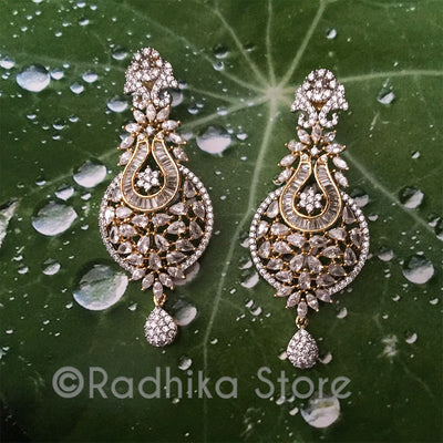 Crystal Magesty Earrings - Bollywood Collection