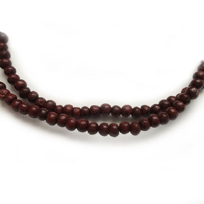 "Deep Rosewood Neck Beads 17"" Inch"