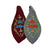 Grey and Garnet Sri Radha With Vrindavan Parrots - Bead Bags