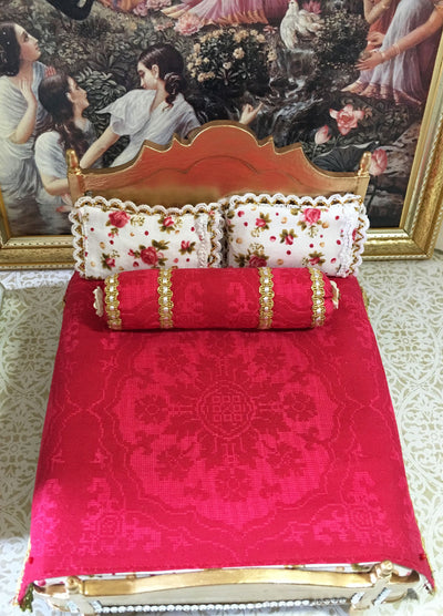 Golden King Rose Mandala Bed
